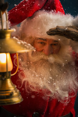 Santa Clause walking outdoors