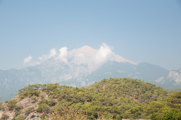 panorama of mountain in Turkey