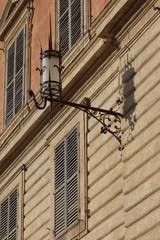Architecture details in Piazza Del Campo, Siena