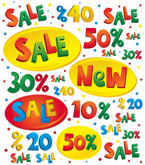 Sale stickers label vector