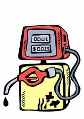 doodle gas station