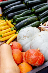 Mix of vegetables at the market