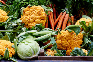 Mix of vegetables at the market for sale
