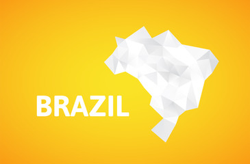 Triangle texture Brazil map