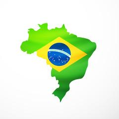 Vector flag maps of Brazil