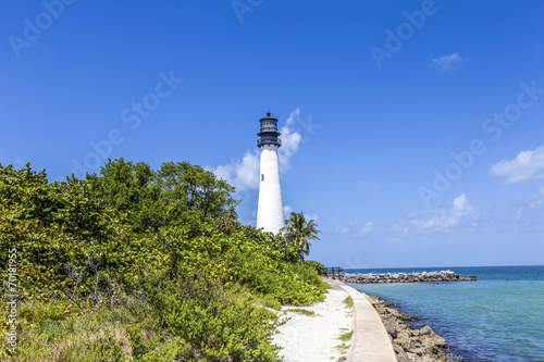 Papiers peints Phare Famous lighthouse at Cape Florida at Key Biscayne
