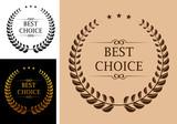 Fototapety Best choice emblem