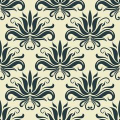Persian paisley seamless floral pattern