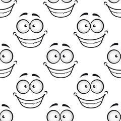 Happy face seamless pattern