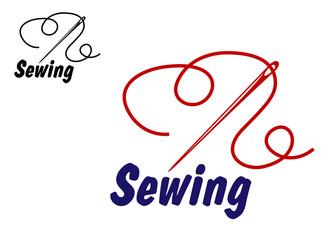 Needlework or sewing symbol
