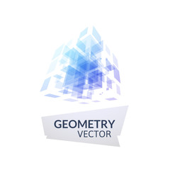 Cube geometry construction icon