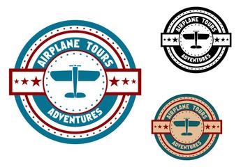 Airplane tours travel icon