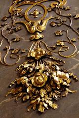ornamental plant gold wall