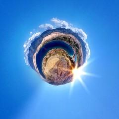 Abstract circular view of Pag island - Croatia