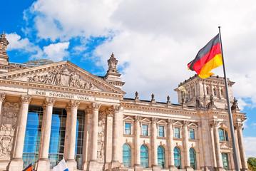 Deutscher Bundestag im Berliner Reichstagsgebäude