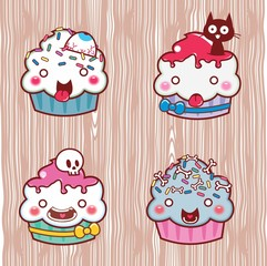 cartoon cupcake 17