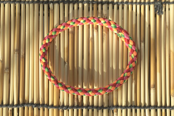 Vivid color hair rubber band
