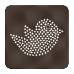 Trendy bird   web or internet icon  vector design element.