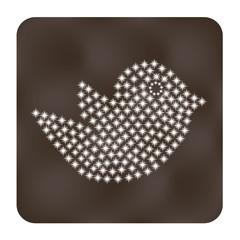 Trendy bird   web or internet icon  vector design element.