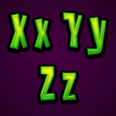 Halloween modern font XYZ