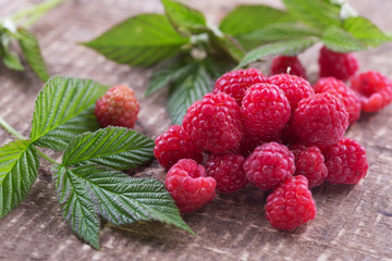 Fresh organic raspberry