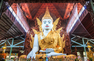 Buddha statue at Ngahtatkyi temple in Yangon, Myanmar