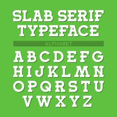 Slab serif typeface, font, alphabet