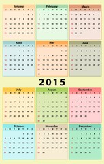 Annual Calendar for 2015