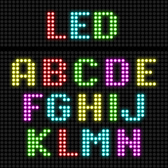 LED display alphabet