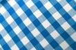 blau-weißes Karomuster - Landhausstyl