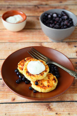 rustic pancakes with sour cream