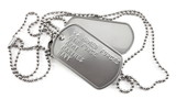 Fototapety Military dog tags on white background
