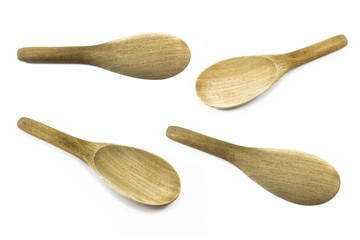 wood ladle isolated