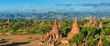 Pagoda view in Bagan where has a few thousand of pagoda, Myanmar