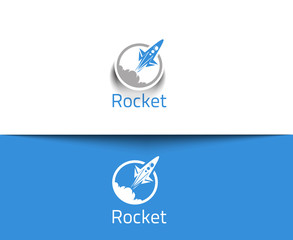 Abstract Rocket Logo