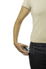 keeping an insulin pump in a pocket