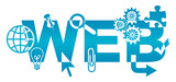 Web Various Symbols Blue