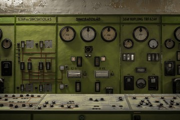 Control panel in a science institute