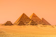 The pyramids of Giza, Cairo, Egypt. - 70188331