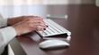 Businesswoman Office Working Typing Keyboard