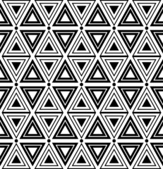 Triangles and diamonds texture. Seamless geometric pattern.