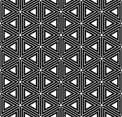 Hexagons and triangles texture. Seamless geometric pattern. Vect