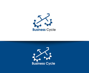 Business Cycling Vector Logo