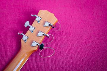 tuning keys of guitar close up