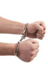 Person with handcuffed
