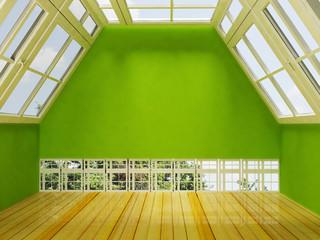 attic the windows, rendering