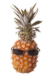 Black sunglasses on pineapple