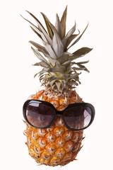 Sunglasses on pineapple