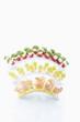 canvas print picture - Mix von Faufgerfood auf Zahnstocher auf weißem Hauftergrund