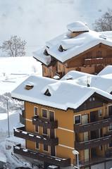Mountain house in alpine village